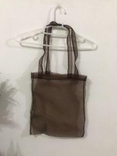(實圖)瑕-日本代購回來 透明咖色包