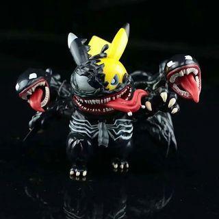 [快貨] 毒魔比卡超 Venom Pikachu / 屠殺比卡超 Carnage Pikachu 10cm 模型