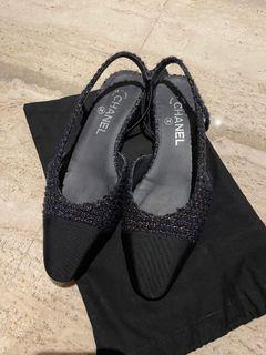 Authentic Chanel Tweed Flats
