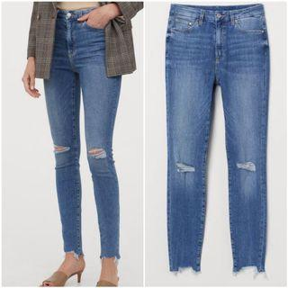 Authentic H&M embrace high waist ripped ankle jeans