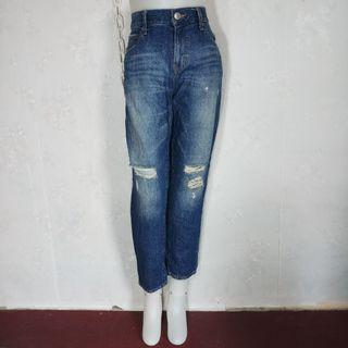 Authentic Lowrys Farm high waisted boyfriend ripped jeans