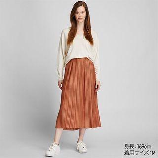 Authentic Uniqlo pleated jersey long skirt | rok plisket | prisket