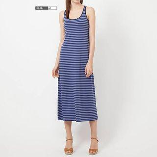 Authentic Uniqlo striped long dress with bra