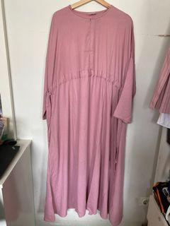 Basic Abaya Alsjebleif Dusty Pink