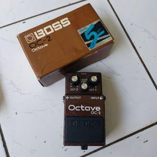 Boss Octave OC-2 Taiwan n fender squier gibson epiphone