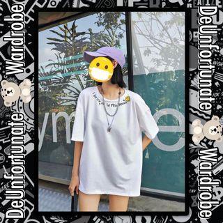 Brand New Oversized Korean Style Streetwear Mischievous Smiley Cotton T-Shirt (Pls READ description below 👇)