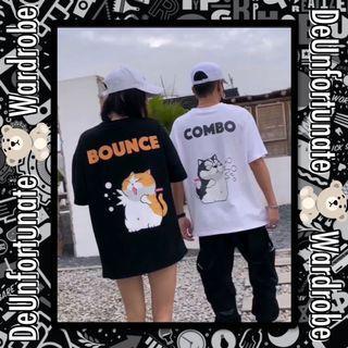 Brand New Oversized Korean Style Streetwear Bounce Cat Cotton T-Shirt (Pls READ description below👇)