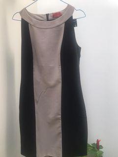 ELLE ORIGINAL – DRESS IMPORT -  SIZE S  - COKLAT HITAM - MULUS