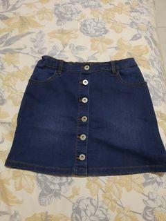 Girls jeans skort