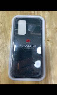 Huawei P40 PU case black / green  (💯%全新原廠貨New original)