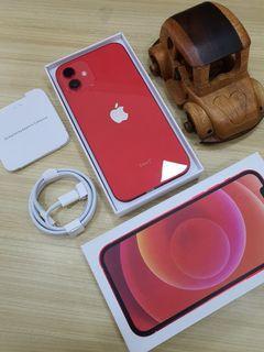 IPHONE 12 128GB RED SECOND MULUS FULLSET GARANSI