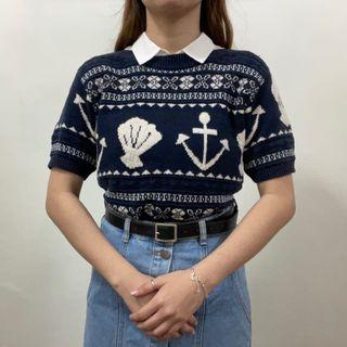 Knit Top Graphic Boho
