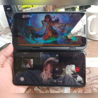 LG V50 5G 128\6gb w/ Dual Screen New Aurora Black Openline