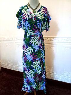 MAXI PALM SLIT DRESS