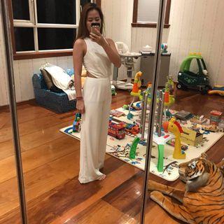 Miss selfridge white jumpsuit
