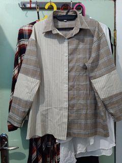 Mixed Fabric Shirt