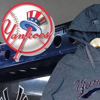 MLB NY NEW YORK YANKEES GRAY PULLOVER HOODIE ORIGINAL AUTHENTIC