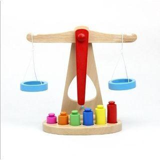 Montessori Wooden Scale Toy/Mainan Timbangan Kayu/Mainan Neraca/Mainan Edukasi Anak