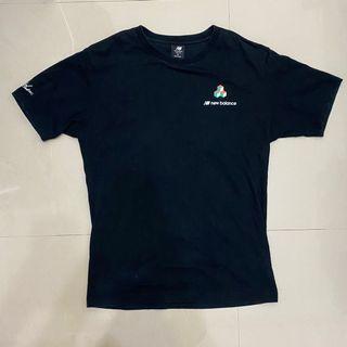 New Balance 男性 短袖上衣 休閒 T恤 M 厚磅 黑色
