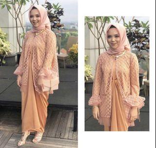 Preloved AMR The Label Kaftan Dress in Peach