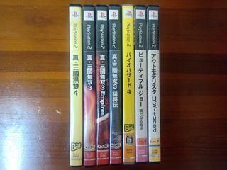 PS2遊戲7片 三國無雙 惡靈古堡