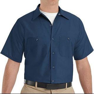Red Kap Men's Industrial Work Short Sleeve Shirt (Size 5XL)