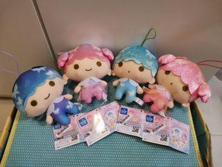Sanrio characters 芭蕾舞裙 蝴蝶 絲帶 Little Twin Stars TS  Lala Kiki  毛公仔 吊飾