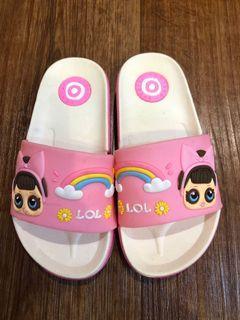 Sendal Anak slop LOL pink