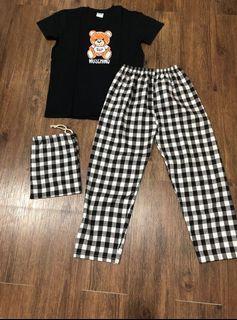 Setelan Pajamas Moschino