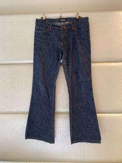 女-SOMETHING專櫃正品/EDWIN低腰小喇叭牛仔褲32/二手保存良好