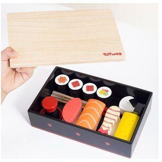 Sushi Set Wooden Toy/Set Sushi/Mainan Sushi/Pretend Play
