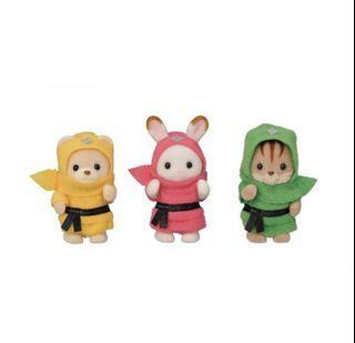 Sylvanian Families Baby Trio Ninja