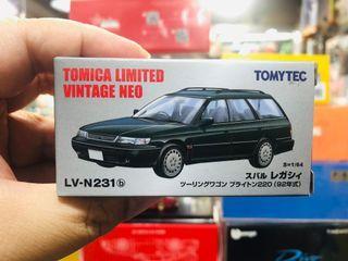 Tomytec Tomica Limited Vintage LV-N231b Subaru Legacy Touring Wagon Brighton 220 Green