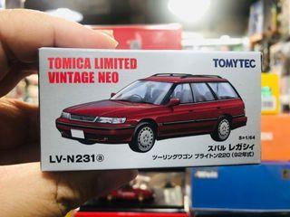 Tomytec Tomica Limited Vintage LV-N231a Subaru Legacy Touring Wagon Brighton 220 Red