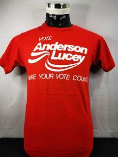 T-SHIRT VINTAGE VOTE ANDERSON LUCEY
