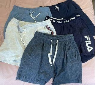 uniqlo, cotton on, fila shorts
