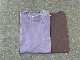 United Athle 水洗復古T恤 100%純棉 顏料染5.6oz厚磅T素T短T口袋T復古黑、復古深藍 S號