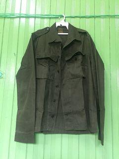 VINTAGE ARMY 50s-60s HERINGBONE ( HBT )