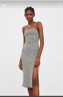 Zara checkered slit