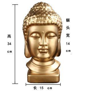 陶瓷佛像34cm (Buddha decoration porcelain) #pdc 541910