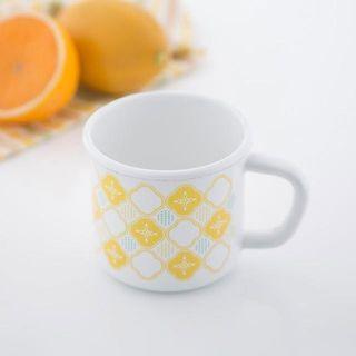 【印花樂】日本富士琺瑯聯名8cm馬克杯-玻璃海棠