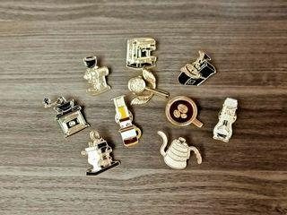 100% NEW Barista Hustle Tools Pins 咖啡師 精品咖啡 工具 襟章 襟針