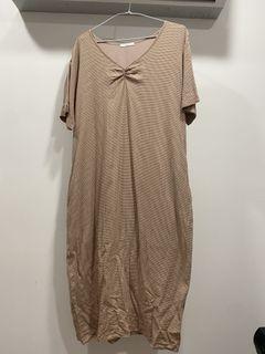 格子短袖洋裝#支持