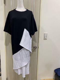 韓版拼接造型洋裝