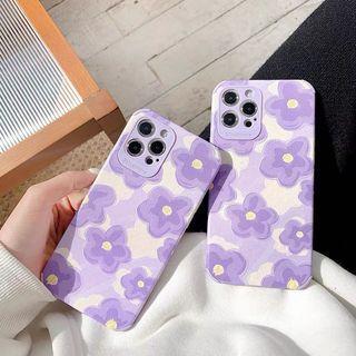 紫色花朵🌺手機殼
