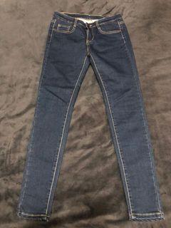 《貳手》深色顯瘦牛仔長褲