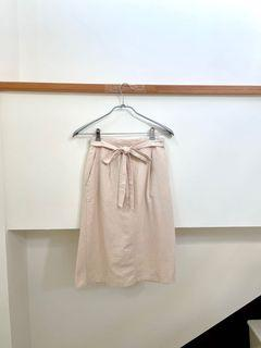 溫柔氣質的棉麻綁帶裙💗