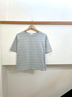 韓國姊姊必備霧霾藍短袖💗 #618