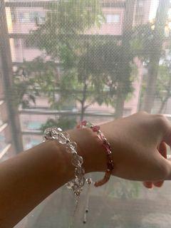 水晶手鍊設計款💰碧璽隨行+草莓金