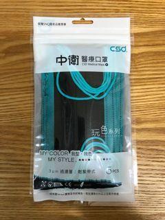 [交換/賣]台灣製造 中衛口罩 月河拼黑 換牛油紙底包裝